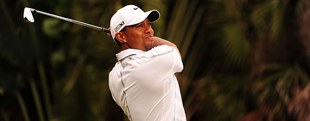 Tiger Woods made seven birdies and two bogeys on Saturday.