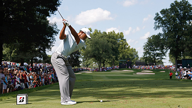 Woods shot a two-under 68 in the third round.