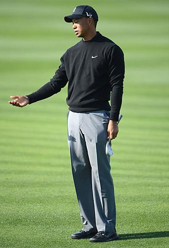 Tiger Woods shot a third-straight even-par 70 on Saturday.
