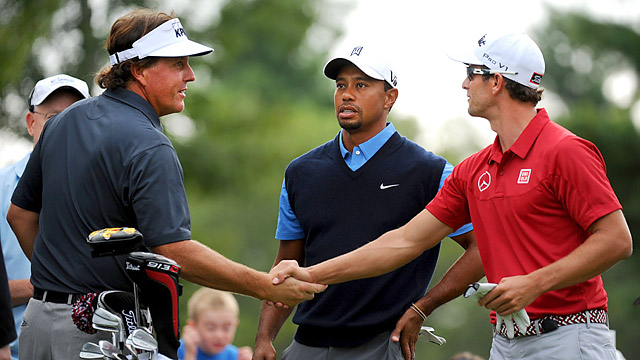 For Tiger Woods, Phil Mickelson and Adam Scott, a win at the Tour Championship will likely also bring Player of the Year honors.