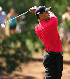 Tiger Woods finished alone in eighth place.
