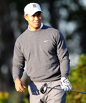 Tiger Woods was last seen hitting golf balls on Feb. 18.