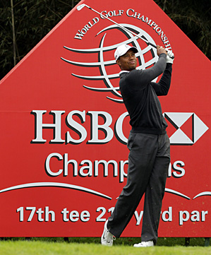 Tiger Woods during Wednesday's pro-am.