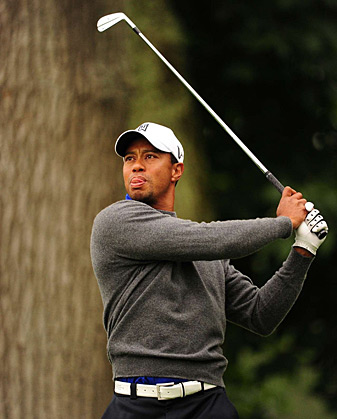 Tiger Woods made five birdies and a double bogey.