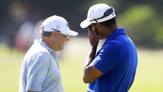 Tiger Woods made five bogeys and two birdies.
