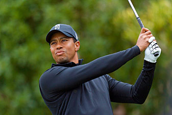 Tiger Woods made six birdies and one bogey in the third round.