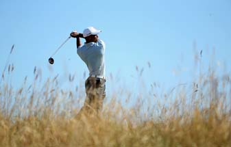 Tiger Woods' even-par 71 on Friday included a birdie at the 18th hole, but also a missed two-foot putt at the fourth.