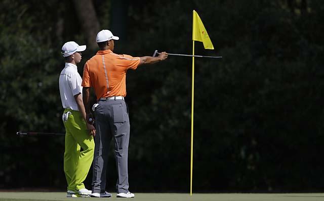 Tiger Woods and Tianlang Guan