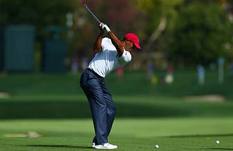 Tiger Woods during a practice round Tuesday for the 2013 Presidents Cup at Muirfield Village.