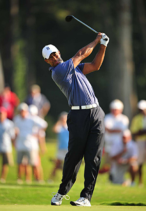 Tiger Woods is playing this week for the first time since the PGA Championship, where he failed to make the cut.