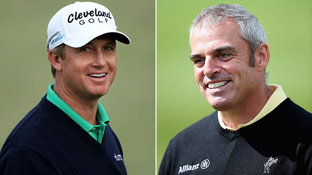 David Toms (left) and Paul McGinley are among the favorites to be Ryder Cup captains in 2014.