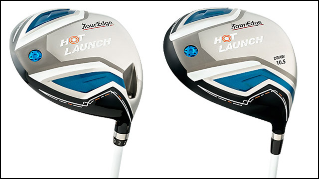 Tour Edge Hot Launch left) and Hot Launch Draw Drivers.