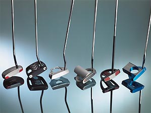 Six new putters to help drain it.