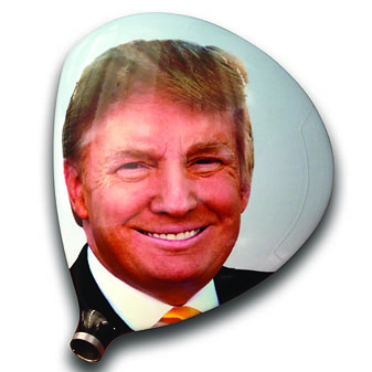 ClubCrown made this driver decal for Donald Trump/