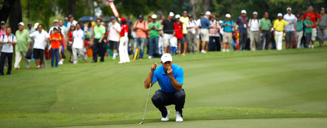 Tiger Woods made seven birdies and two bogeys on Thursday.