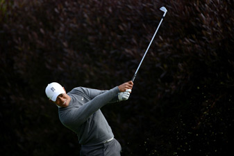 Tiger Woods made three birdies and two bogeys on Thursday.