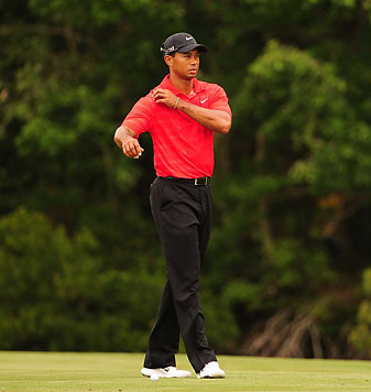 Woods last three finishes are T40, MC, T40.