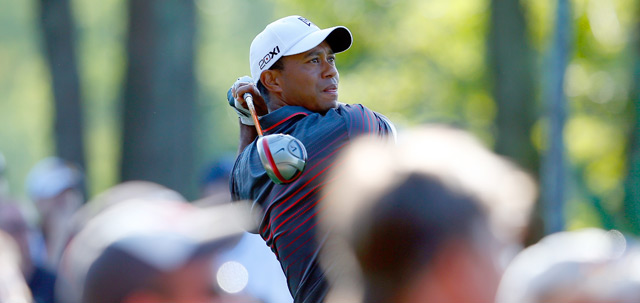 Tiger Woods made eight birdies and one bogey on Friday.