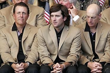 The U.S. team was noticeably distraught at the Ryder Cup closing ceremonies on Monday.