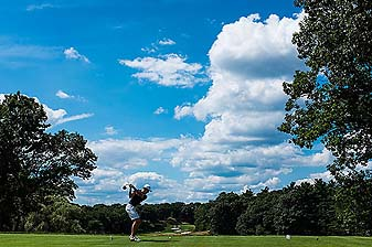 Australian Oliver Goss defeated Brandon Matthews, of Dupont, Pa., 5 and 3, on Friday in the quarterfinals of the 2013 U.S. Amateur Championship at the Country Club in Brookline, Mass.