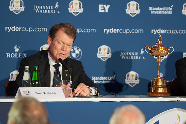 Tom Watson will announce his wildcard picks for the U.S. Ryder Cup team on Tuesday at 7 p.m. Eastern.