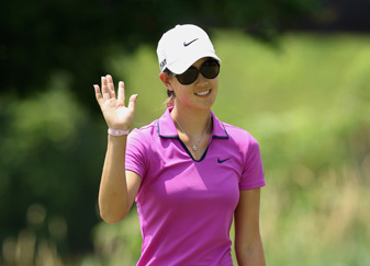 Michelle Wie made seven birdies and one bogey Friday.