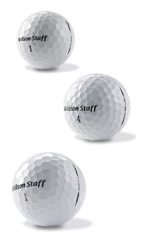 From Top: Wilson's C:25, FG Tour and D:25 golf balls