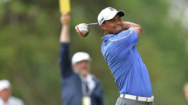 Woods only got through 10 holes on Thursday and struggled throughout.