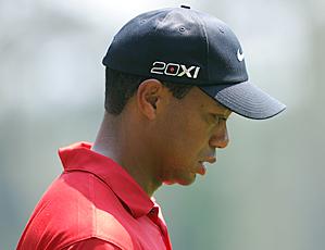 Tiger Woods's aura passed away on Sunday.