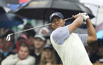 Tiger Woods faces Aaron Baddeley on Sunday.