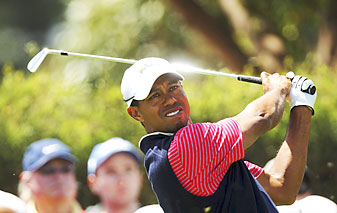 Woods secured the winning point for the U.S. at the Presidents Cup.