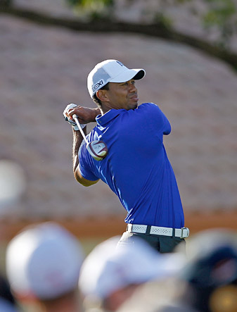 Tiger Woods shot a two-under 68 on Friday to make the cut.