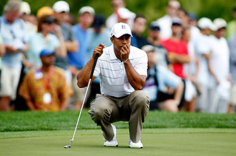 Tiger Woods needed 34 putts on Thursday.