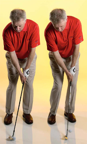 """Make a """"y"""" at address and maintain it during your swing."""
