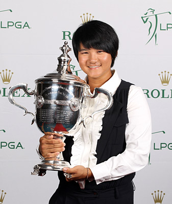 Yani Tseng won the LPGA Player of the Year award after an outstanding season in which she won 12 events worldwide, including two major championships.