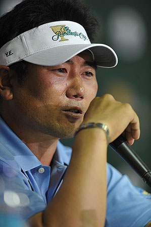 Y.E. Yang said a blood vein popped in his eye.