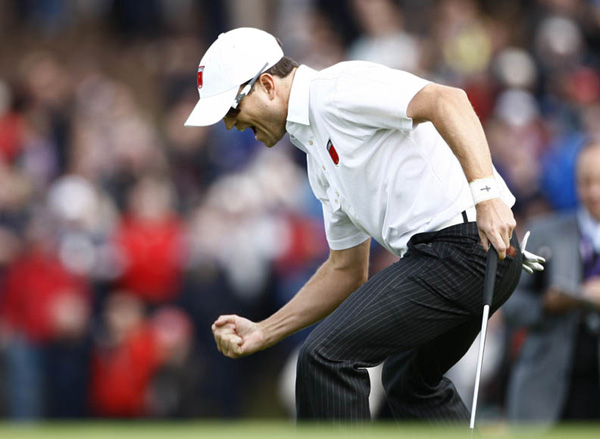 Zach Johnson had a strong showing at the Ryder Cup.