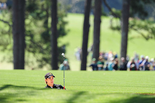 Camilo Villegas, who has never made the cut at the Masters, made the turn at even par and bogeyed Nos. 10, 11 and 12.