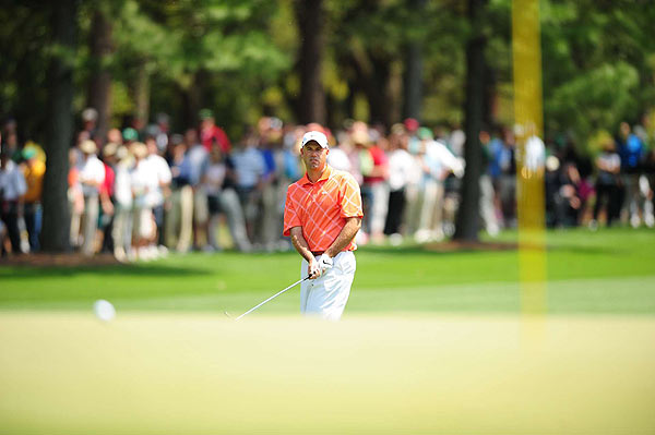 Stewart Cink started his round with a bogey, but then birdied Nos. 2 and 4.