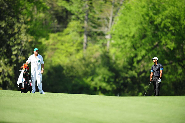 Woods got on a roll on the back nine with birdies on 13, 14 and 15, but he gave one stroke back with a bogey on 18.