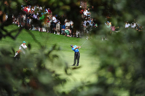 Woods birdied again on the par-5 15th to move to three under par.