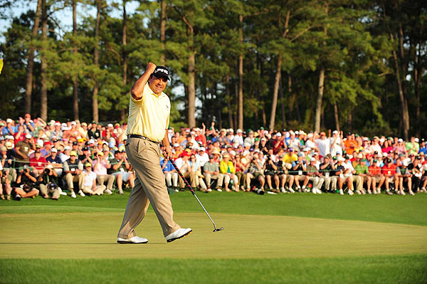 Cabrera made three birdies on the back and sunk a big putt on 18 to make the playoff at 12 under par.