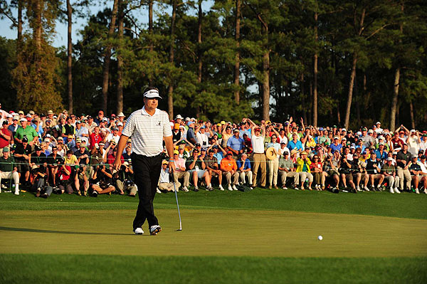 Perry missed a par putt on 18 for the outright win. With a bogey he also made the playoff.
