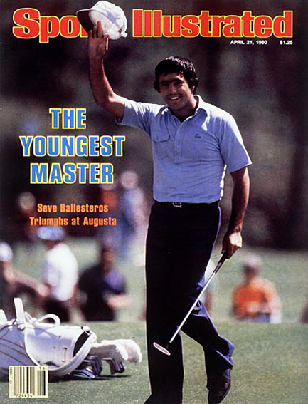 Seve Ballesteros wins Masters by four strokes April 21, 1980