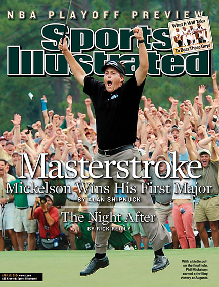 Phil Mickelson wins his first major April 19, 2004
