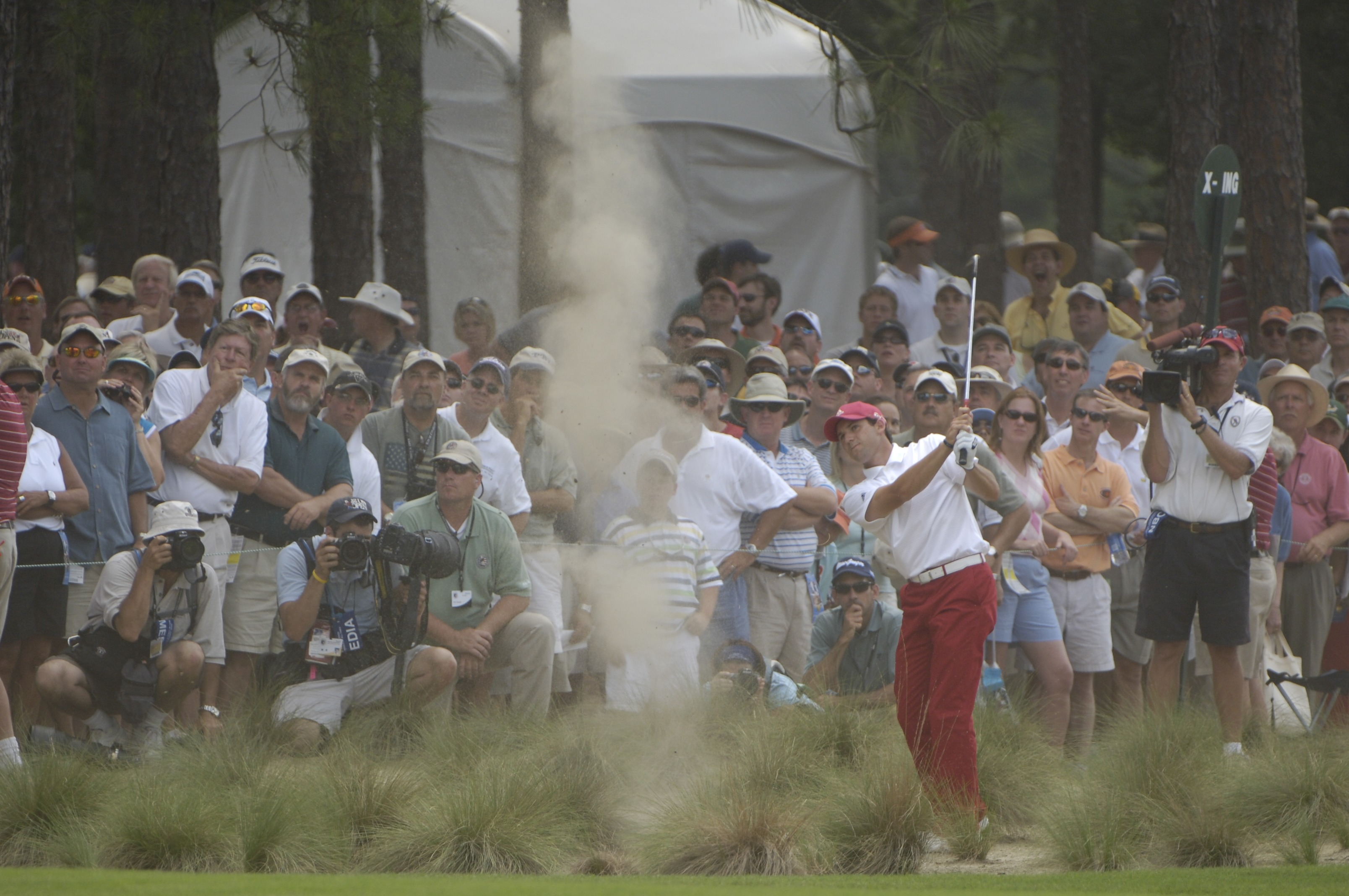 2005 U.S. Open                           Pinehurst No. 2                           Pinehurst, N.C.                           Garcia was at even par going into the weekend at Pinehurst, but a birdie-free 75 — which included 32 putts — Saturday shot him out of contention. A final round 70 was not enough, and Garcia finished tied for third.