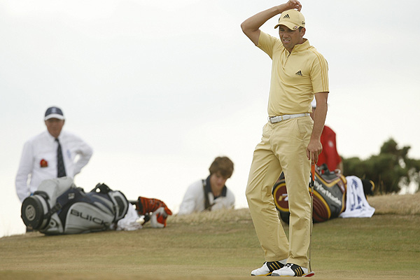 2006 British Open                           Royal Liverpool                           Hoylake, England                           After blistering the course with a 65 on Saturday to earn a spot in the final pairing Sunday with Woods, Garcia was never able to get on track. He struggled to a frustrating 73 and finished tied for 5th.