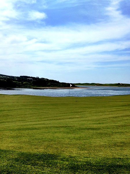 """""""@eamonlynch: The 10th green set against MacIssac's Pond."""""""
