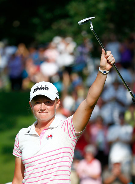 Lewis earned her third victory of the season with a birdie on the 18th hole to win the Walmart NW Arkansas Championship in Rogers, Ark. The birdie capped a final-round 65, good for a one-shot victory over Cristie Kerr, Lydia Ko and Angela Stanford.