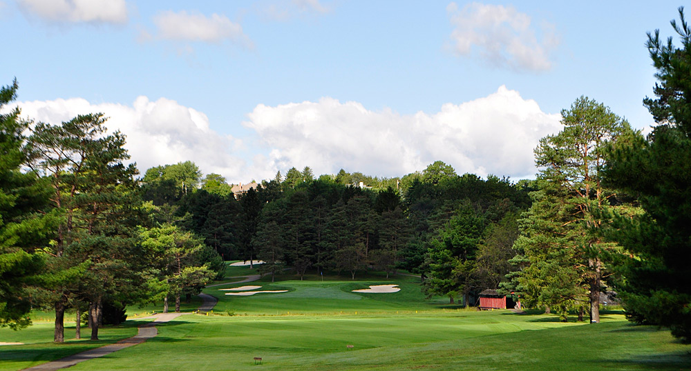 The 342-yard, par-4 12th hole.